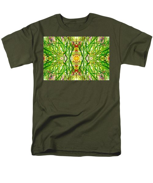 Men's T-Shirt  (Regular Fit) featuring the photograph Tiki Idols In The Grass  by Marianne Dow