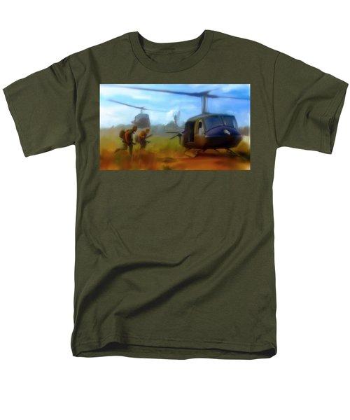 Time Sacrificed II Vietnam Veterans  Men's T-Shirt  (Regular Fit)