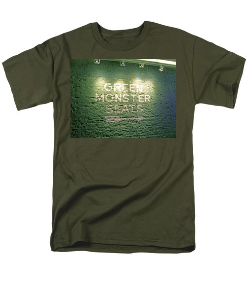 Men's T-Shirt  (Regular Fit) featuring the photograph To The Green Monster Seats by Barbara McDevitt