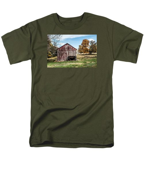 Men's T-Shirt  (Regular Fit) featuring the photograph Tobacco Barn Ready For Smoking by Debbie Green