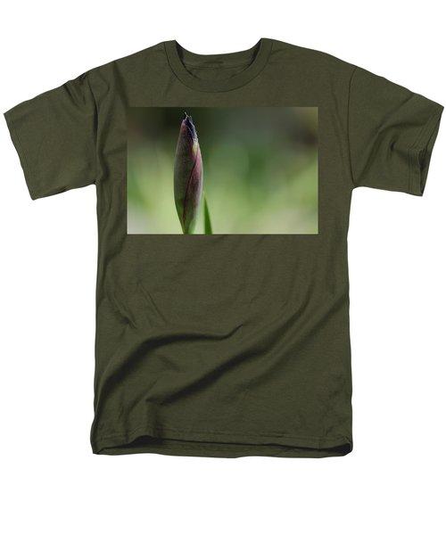 Today A Bud - Purple Iris Men's T-Shirt  (Regular Fit) by Debbie Oppermann