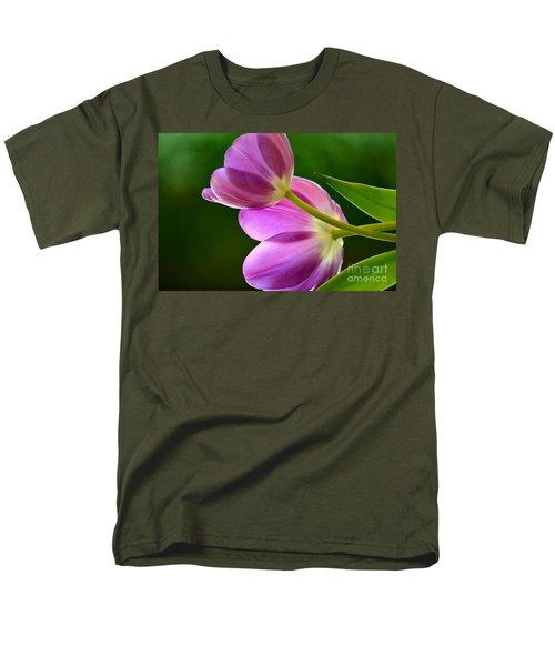 Topsy-turvy Tulips Men's T-Shirt  (Regular Fit) by Deb Halloran