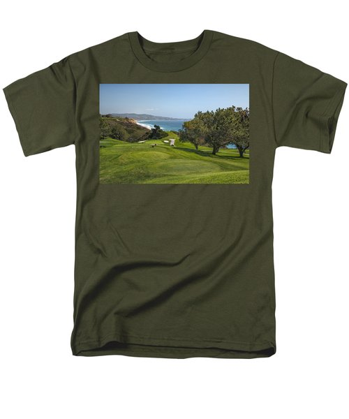 Torrey Pines Golf Course North 6th Hole Men's T-Shirt  (Regular Fit) by Adam Romanowicz