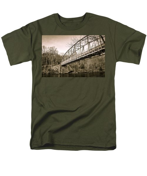 Town Bridge Collinsville Connecticut Men's T-Shirt  (Regular Fit) by Brian Caldwell