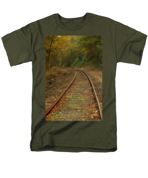 Tracking Thru The Woods Men's T-Shirt  (Regular Fit) by Karol Livote