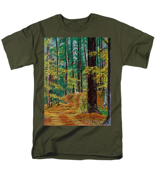 Trail At Wason Pond Men's T-Shirt  (Regular Fit) by Sean Connolly