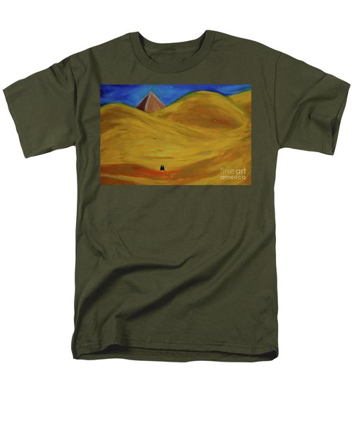 Men's T-Shirt  (Regular Fit) featuring the drawing Travelers Desert by First Star Art