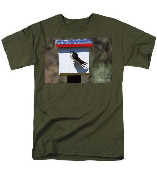 Tree Swallow Home Men's T-Shirt  (Regular Fit) by Mike  Dawson