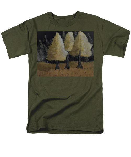 Tree Trio Men's T-Shirt  (Regular Fit) by Dick Bourgault