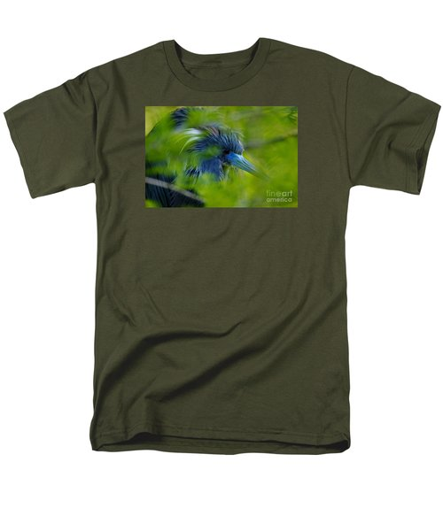 Men's T-Shirt  (Regular Fit) featuring the photograph Tri-colored Heron Concealed    by John F Tsumas