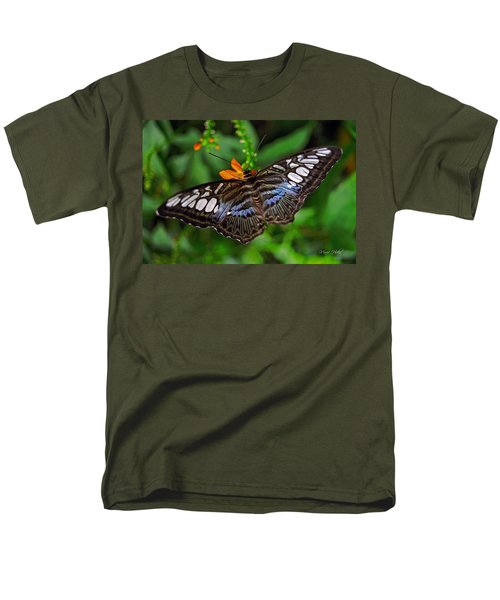Men's T-Shirt  (Regular Fit) featuring the photograph Tropical Butterfly by Marie Hicks