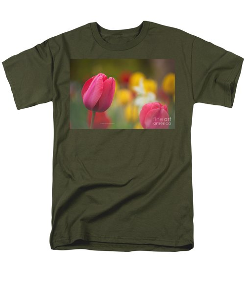 Men's T-Shirt  (Regular Fit) featuring the photograph Tulips Blooming by Rima Biswas