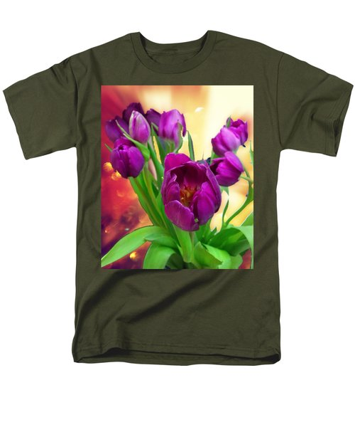 Tulips Men's T-Shirt  (Regular Fit) by Carlos Avila