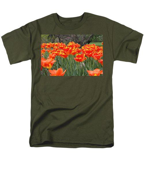 Men's T-Shirt  (Regular Fit) featuring the photograph Tulips From Brooklyn by John Telfer