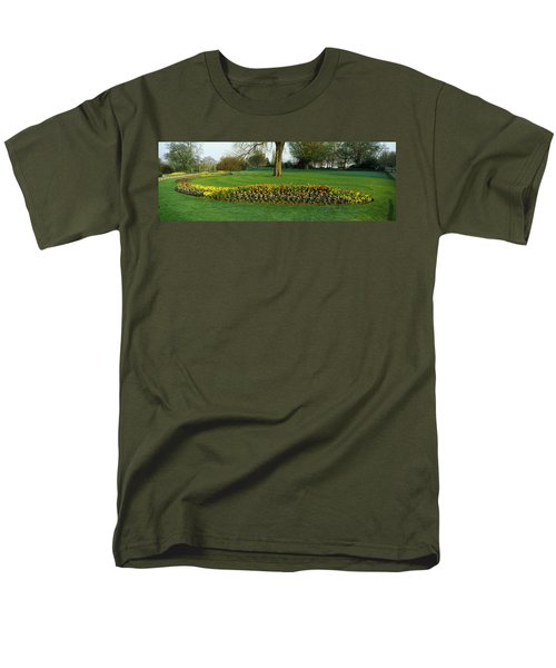 Tulips In Hyde Park, City Men's T-Shirt  (Regular Fit) by Panoramic Images