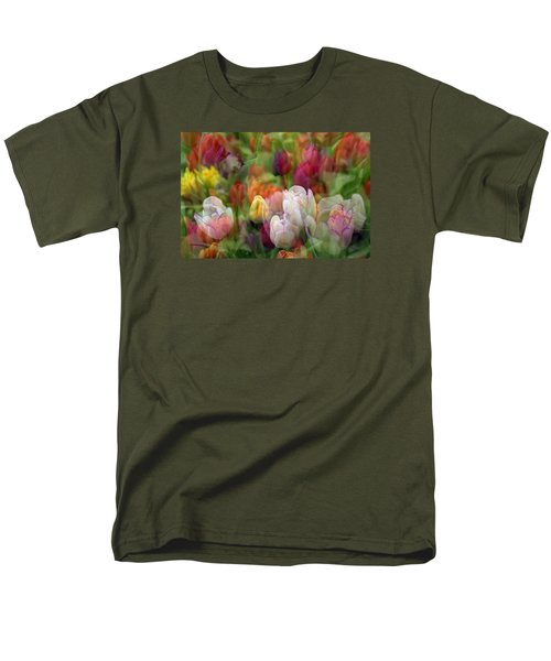 Men's T-Shirt  (Regular Fit) featuring the photograph Tulips by Penny Lisowski
