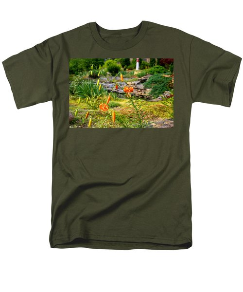 Men's T-Shirt  (Regular Fit) featuring the photograph Turk's Cap Lily by Kathryn Meyer
