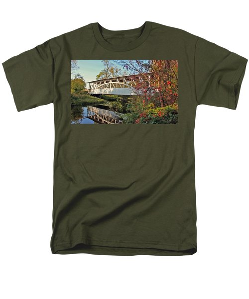 Men's T-Shirt  (Regular Fit) featuring the photograph Turner's Covered Bridge by Suzanne Stout