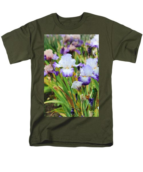 Men's T-Shirt  (Regular Fit) featuring the photograph Two Iris by Patricia Babbitt