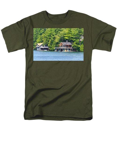 Two Luxury Boathouses Men's T-Shirt  (Regular Fit) by Les Palenik