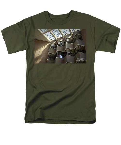 Uf Marston Science Library Accordian Window Wall Men's T-Shirt  (Regular Fit) by Lynn Palmer