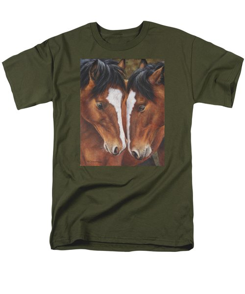Men's T-Shirt  (Regular Fit) featuring the painting Unbridled Affection by Kim Lockman