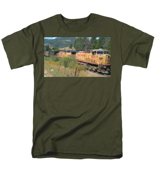 Men's T-Shirt  (Regular Fit) featuring the photograph Union Pacific 6587 by Fortunate Findings Shirley Dickerson