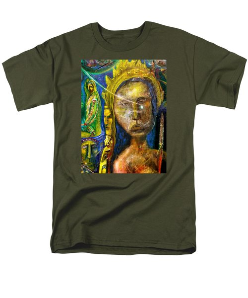 Men's T-Shirt  (Regular Fit) featuring the painting Universal Totem by Kicking Bear  Productions