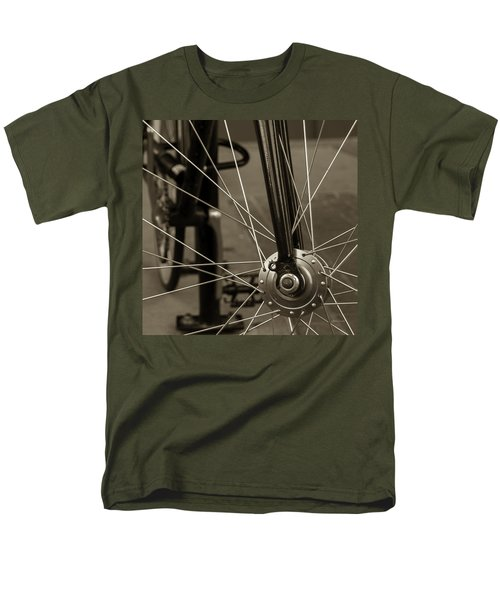 Men's T-Shirt  (Regular Fit) featuring the photograph Urban Spokes In Sepia by Steven Milner