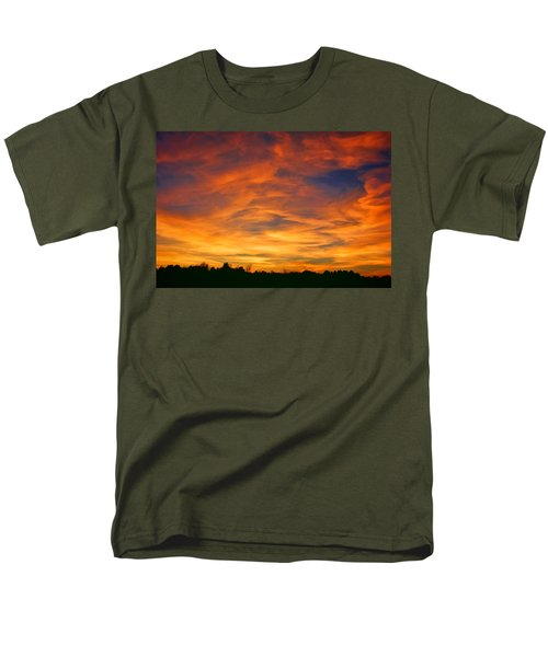 Men's T-Shirt  (Regular Fit) featuring the photograph Valentine Sunset by Tammy Espino