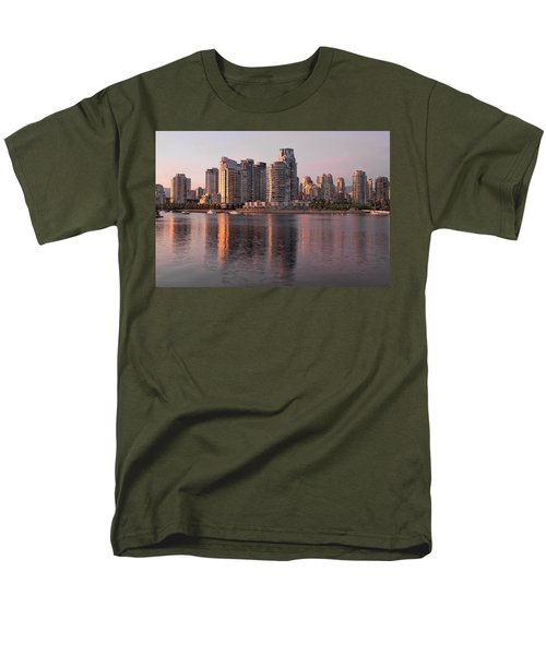 Men's T-Shirt  (Regular Fit) featuring the photograph Vancouver Bc Waterfront Condominiums by JPLDesigns