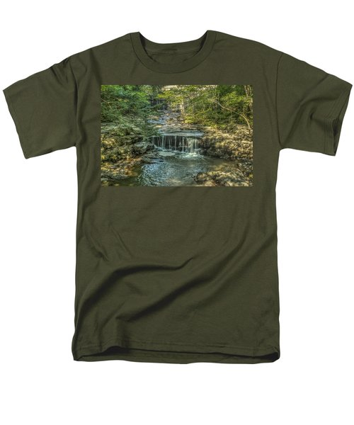 Men's T-Shirt  (Regular Fit) featuring the photograph Vaughan Woods Stream by Jane Luxton