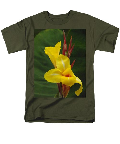 Velvety Yellow Iris  Men's T-Shirt  (Regular Fit) by Brenda Brown