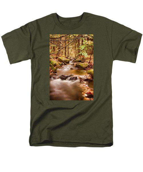 Vermont Stream Men's T-Shirt  (Regular Fit) by Jeff Folger