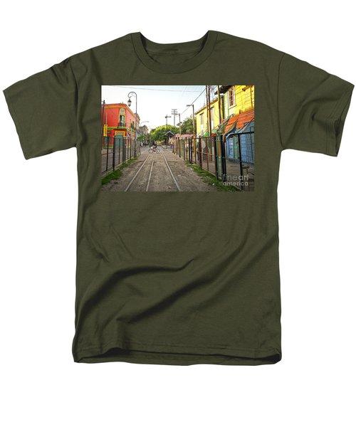 Men's T-Shirt  (Regular Fit) featuring the photograph Vias De Caminito by Silvia Bruno