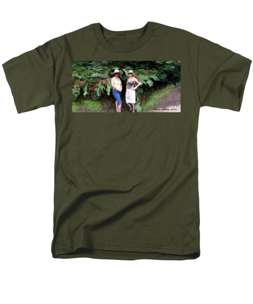 Men's T-Shirt  (Regular Fit) featuring the painting Victoria And Friend by Bruce Nutting