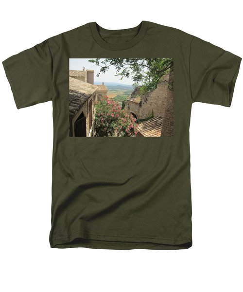 Men's T-Shirt  (Regular Fit) featuring the photograph Village Vista by Pema Hou