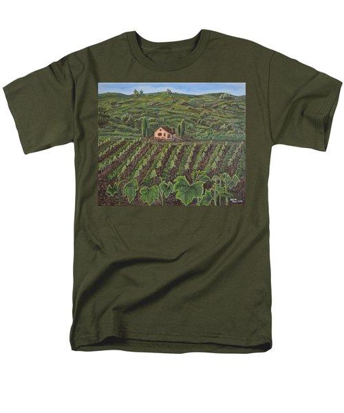 Vineyard In Neuchatel Men's T-Shirt  (Regular Fit) by Felicia Tica