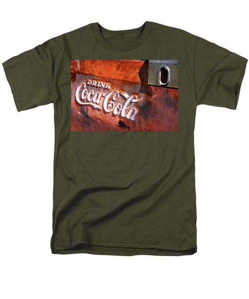 Men's T-Shirt  (Regular Fit) featuring the photograph Vintage Coca Cola by Steven Bateson