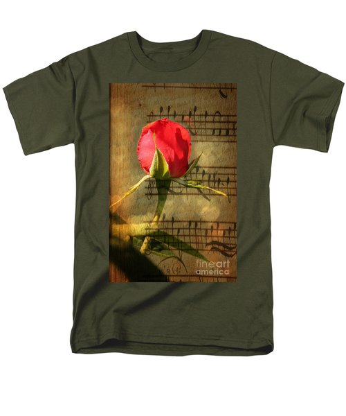 Men's T-Shirt  (Regular Fit) featuring the photograph Vintage Love Story Symphony by Judy Palkimas