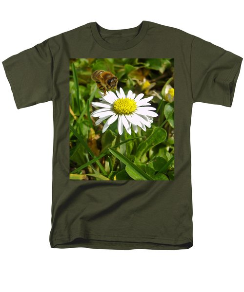 Men's T-Shirt  (Regular Fit) featuring the photograph Visiting Miss Daisy by Nina Ficur Feenan