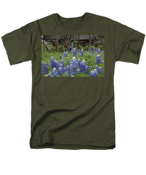 Wagon With Bluebonnets Men's T-Shirt  (Regular Fit) by Susan Rovira