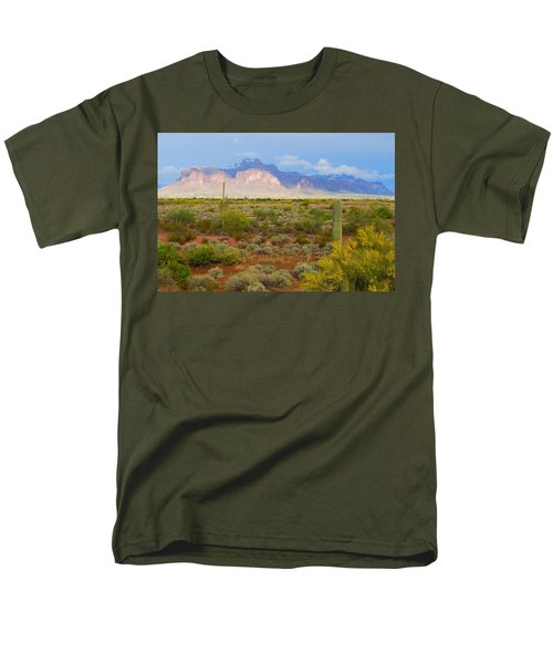 Men's T-Shirt  (Regular Fit) featuring the photograph 16x20 Canvas - Superstition Mountain Light by Tam Ryan
