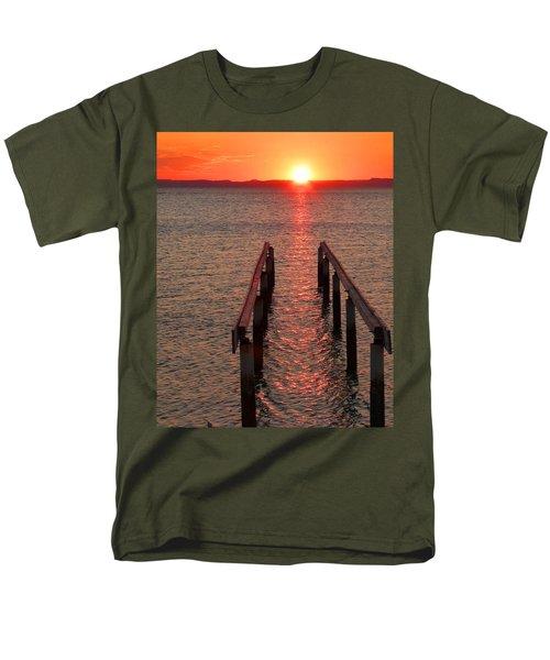 Men's T-Shirt  (Regular Fit) featuring the photograph Walkway To The Sun by Alan Socolik