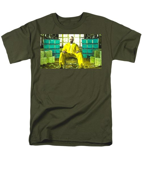 Walter White As Heisenberg Painting Men's T-Shirt  (Regular Fit) by Gianfranco Weiss