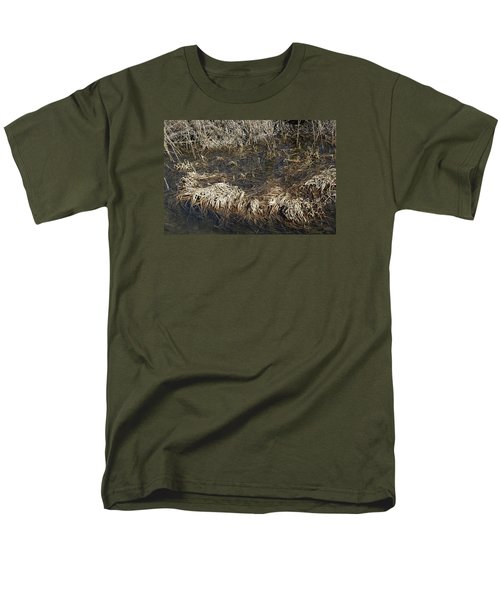 Men's T-Shirt  (Regular Fit) featuring the photograph Dried Grass In The Water by Teo SITCHET-KANDA