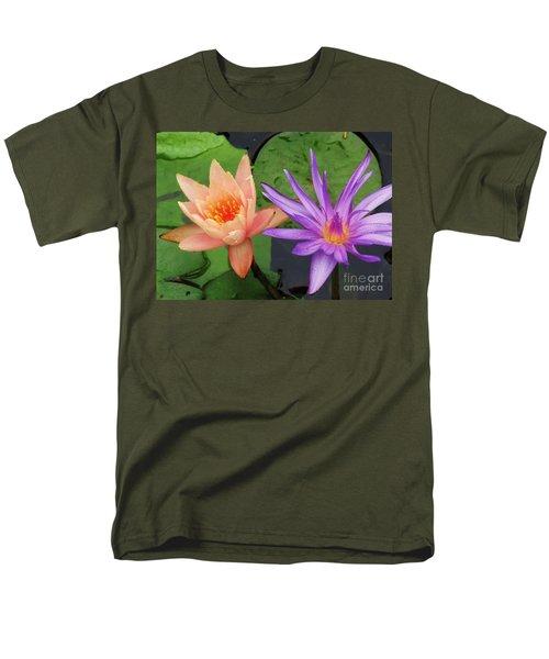 Water Lilies 011 Men's T-Shirt  (Regular Fit) by Robert ONeil