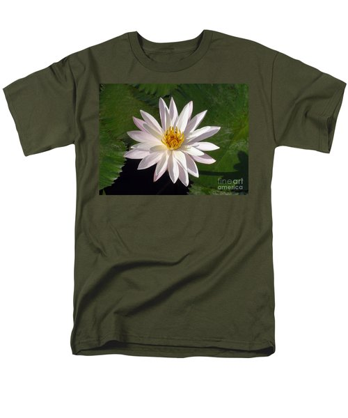 Water Lily Men's T-Shirt  (Regular Fit) by Sergey Lukashin