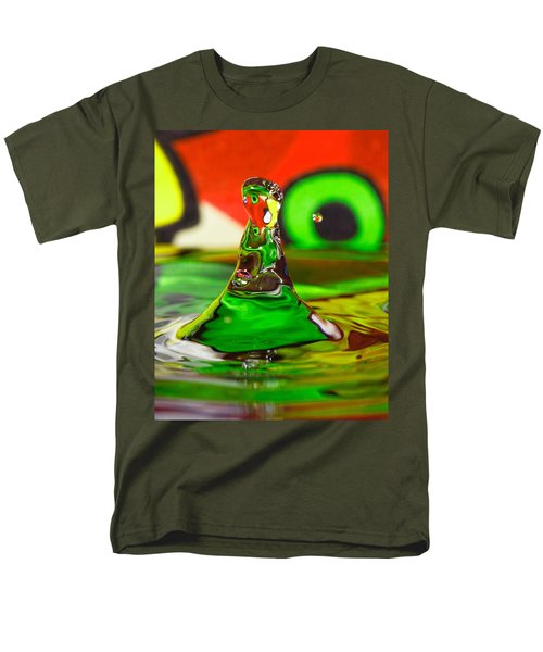 Men's T-Shirt  (Regular Fit) featuring the photograph Water Mountain by Peter Lakomy