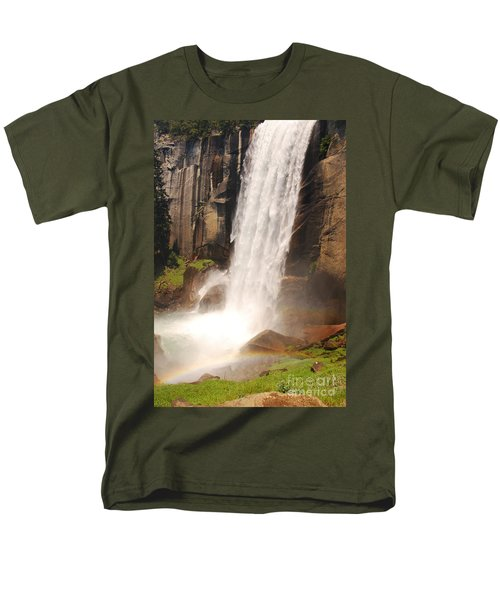 Men's T-Shirt  (Regular Fit) featuring the photograph Waterfall Rainbow by Mary Carol Story